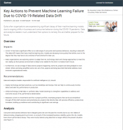 Key Actions to Prevent Machine Learning Failure Due to COVID-19-Related Data Drift
